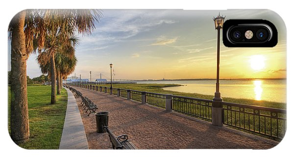 Charleston Sc Waterfront Park Sunrise  IPhone Case