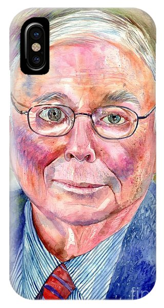Barbara iPhone Case - Charlie Munger Painting by Suzann Sines