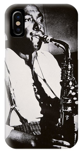 Saxophone iPhone X Case - Charlie Parker by American School