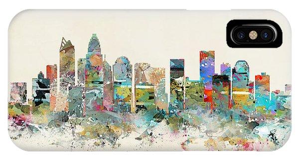 North Carolina iPhone Case - Charlotte City by Bri Buckley