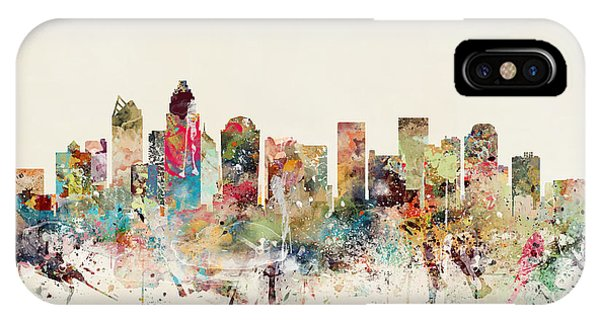 North Carolina iPhone Case - Charlotte City Skyline by Bri Buckley