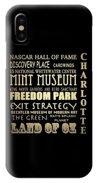Charlotte North Carolina Famous Landmarks IPhone Case