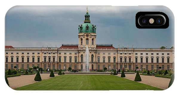 Palace iPhone X Case - Charlottenburg Palace by Smart Aviation