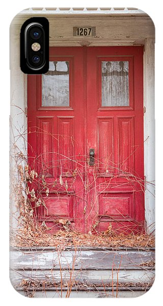 Charming Old Red Doors Portrait IPhone Case
