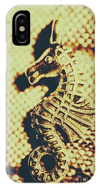 Seahorse iPhone Case - Charming Vintage Seahorse by Jorgo Photography - Wall Art Gallery