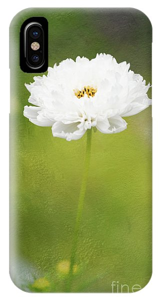 Charming White Cosmos IPhone Case