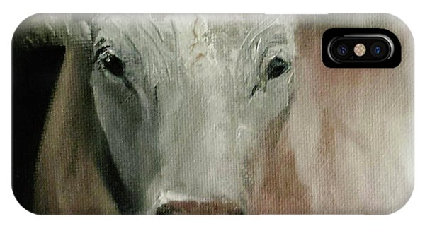 Charolais Cow Painting IPhone Case