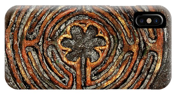 Chartres Style Labyrinth Earth Tones IPhone Case