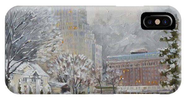 Chase Park Plaza In Winter, St.louis IPhone Case