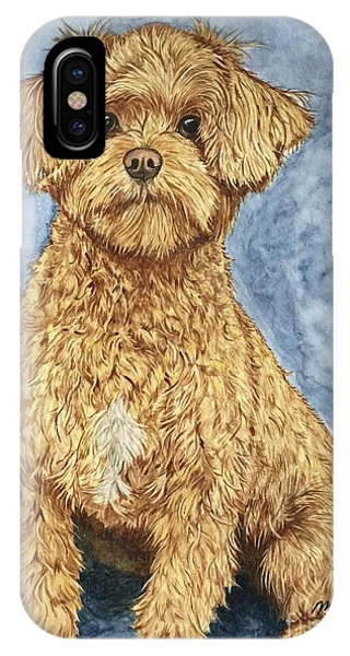 iPhone Case - Chase The Maltipoo by Megan Cohen