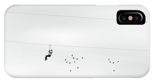 Chased By The Birds IPhone Case