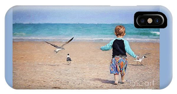 Chasing Birds On The Beach IPhone Case