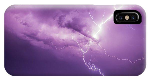 Chasing Nebraska Lightning 018 IPhone Case