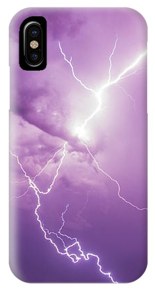 IPhone Case featuring the photograph Chasing Nebraska Lightning 018 by NebraskaSC