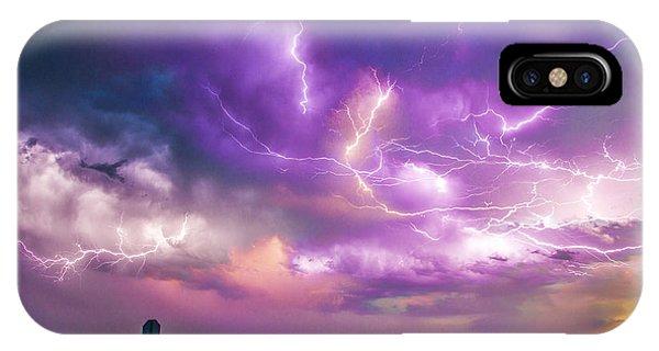Chasing Nebraska Lightning 056 IPhone Case