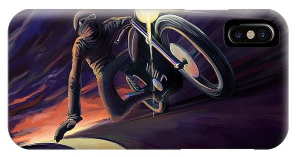 Cafe iPhone Case - Chasing The Line Speed Racer by Sassan Filsoof