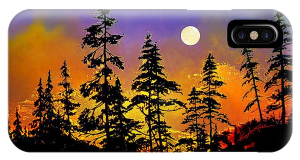 Spruce iPhone Case - Chasing The Moon by Hanne Lore Koehler