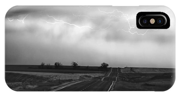 Chasing The Storm - County Rd 95 And Highway 52 - Colorado IPhone Case