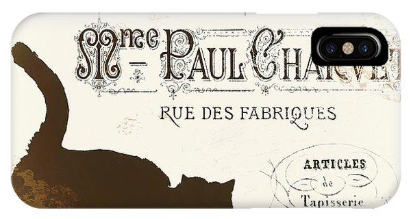 Paris iPhone Case - Chat Noir Paris by Mindy Sommers