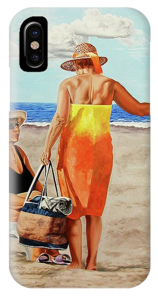 Chat On The Beach - Chat En La Playa IPhone Case