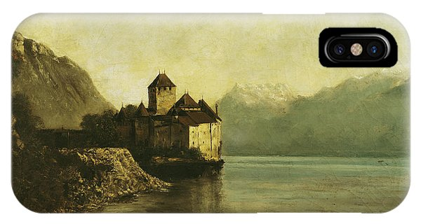 Peaceful iPhone Case - Chateau De Chillon by Gustave Courbet