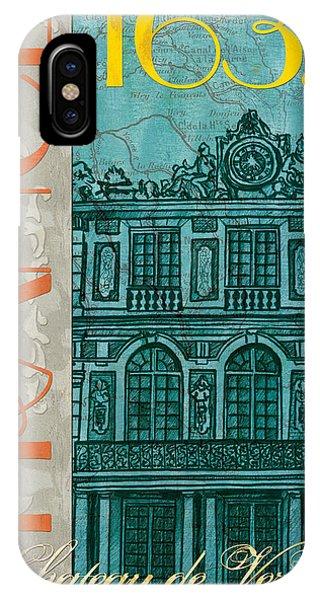 Clock iPhone Case - Chateau De Versailles by Debbie DeWitt