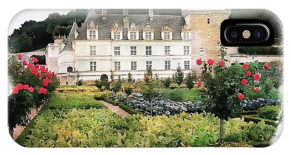 IPhone Case featuring the photograph Chateau Villandry Flower And Vegetable Gardens by Joseph Hendrix