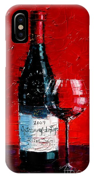 Cocktail iPhone Case - Still Life With Wine Bottle And Glass I by Mona Edulesco