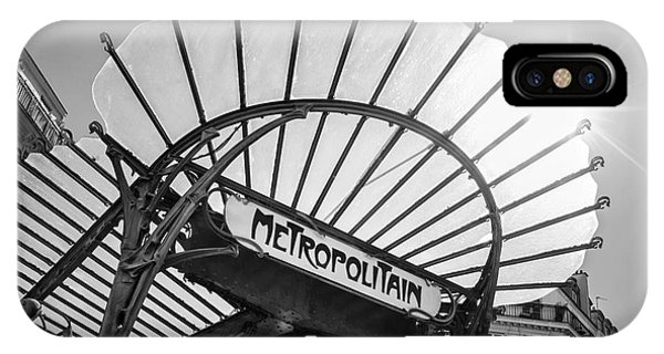 Paris Metro iPhone Case - Chatelet Metropolitain by Delphimages Photo Creations