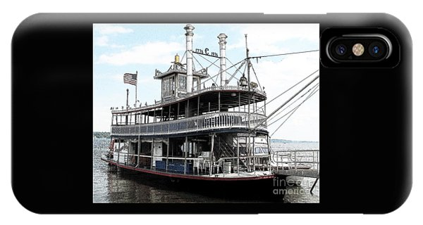 Chautauqua Belle Steamboat With Ink Sketch Effect IPhone Case