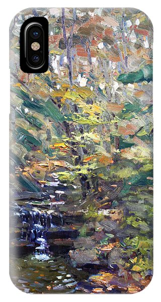 Waterscape iPhone Case - Chautauqua Gorge State Forest by Ylli Haruni