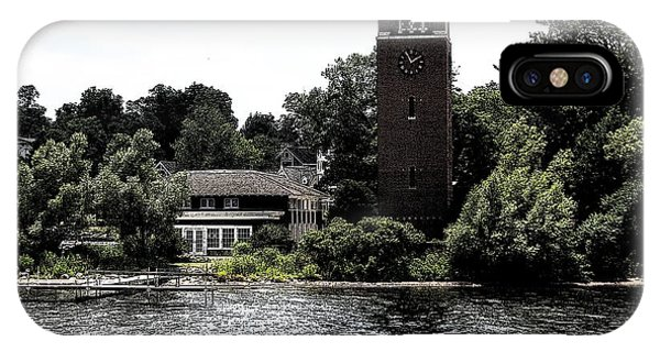 Chautauqua Institute Miller Bell Tower 2 With Ink Sketch Effect IPhone Case