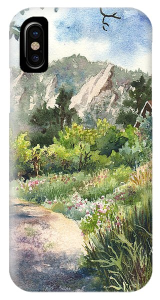 Rocky Mountain iPhone Case - Chautauqua Morning by Anne Gifford