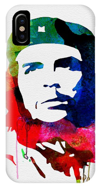 Rights iPhone Case - Che Guevara Watercolor 2 by Naxart Studio