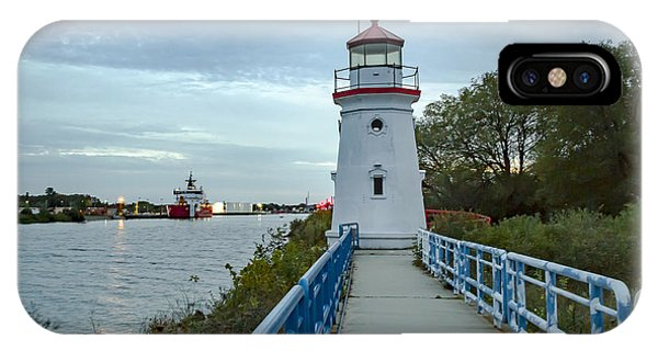 Cheboygan Crib Lighthouse Lake Huron, Lower Peninsula Mi IPhone Case