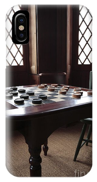 Checkers Table At The Lincoln Cottage In Washington Dc IPhone Case