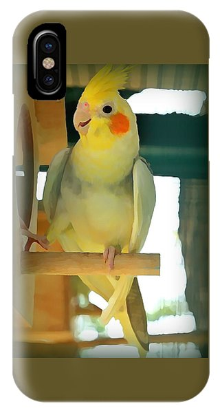 iPhone Case - Cheerful Cockatiel by Raven Hannah
