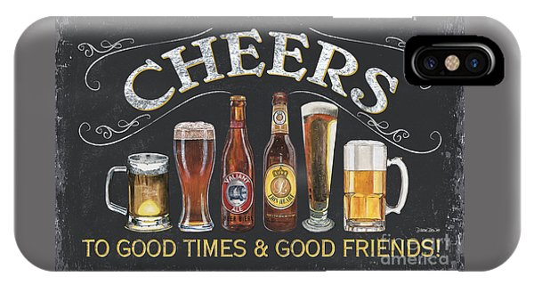 Liquor iPhone Case - Cheers  by Debbie DeWitt