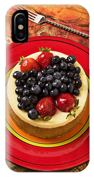 Cheesecake On Red Plate IPhone Case