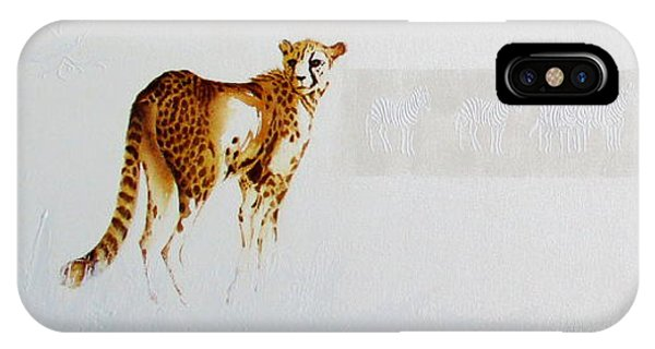 Cheetah And Zebras IPhone Case