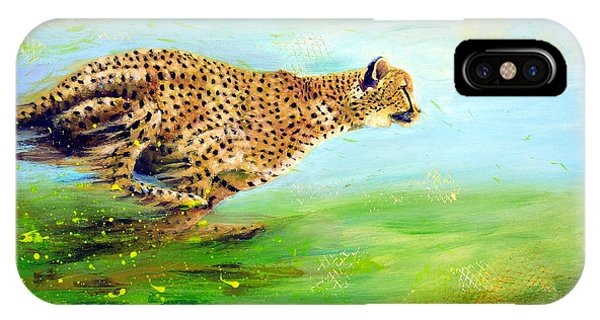 Cheetah At Speed IPhone Case