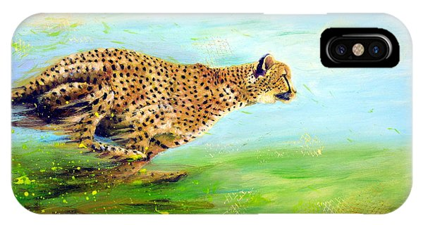 Cheetah At Speed IPhone Case