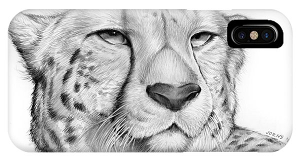 Cheetah iPhone Case - Cheetah by Greg Joens