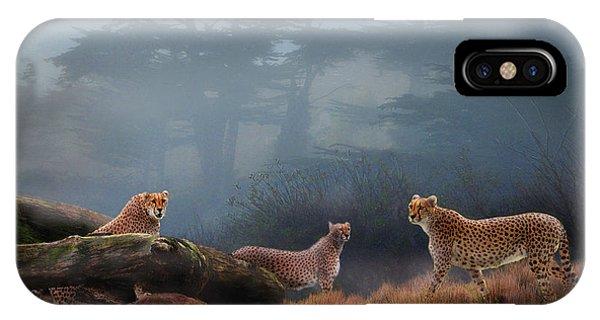 Cheetahs In The Mist IPhone Case