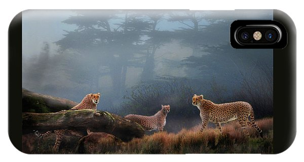 Cheetahs In The Mist IPhone Case