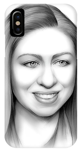 United States Presidents iPhone Case - Chelsea Clinton by Greg Joens