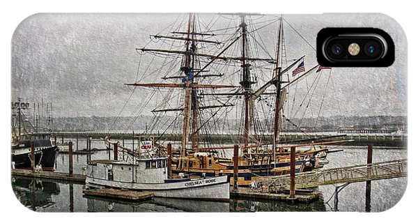 Chelsea Rose And Tall Ships IPhone Case