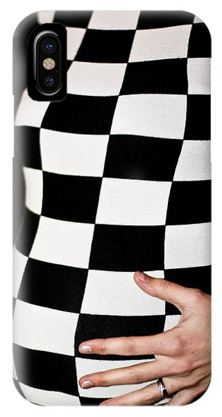 Chequered Pregnancy IPhone Case