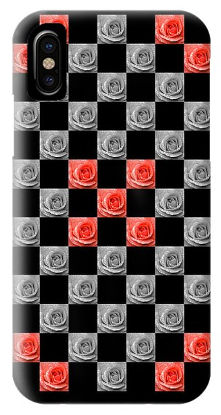 Chequered Rose IPhone Case