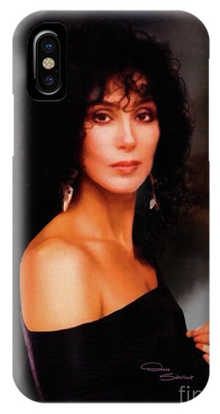 Sonny And Cher iPhone Case - Cher 1980s by Donna Schellack